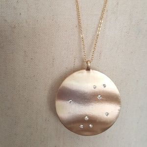 Anthropologie Jewelry - NWOT ANTHROPOLOGIE GOLD CIRCLE WITH PAVES NECKLACE